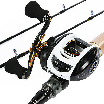 Baitcasting Fishing Rod with Reel Combos 2sections Light Weight Carbon Fishing