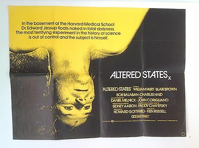 Altered States Ken Russell UK Quad Poster