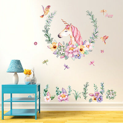 Unicorn Removable Vinyl Art Wall Decal Stickers Bedroom Mural Home Room Decor