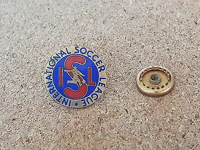 Old  International  Soccer  League   Pin  Badge -