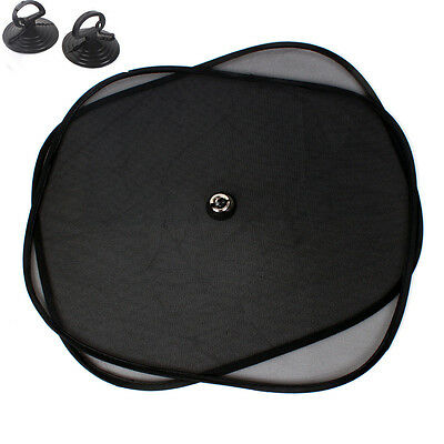 2PCS Black Car Rear Window UV Mesh Sun Shades Blind Kids Sunshade Blocker NEW