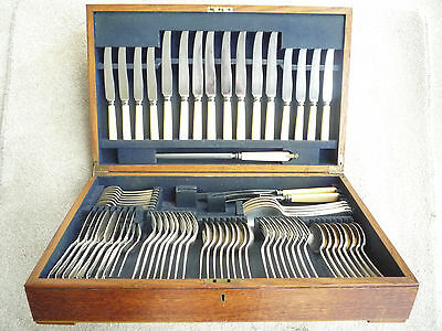 Mappin & Webb Canteen Of Hanoverian Pattern Cutlery For 8 Settings