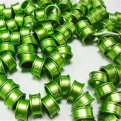 50pcs*3~12mm Aluminum Customized Leg Bands Rings For Birds Pigeon Parrot Canary