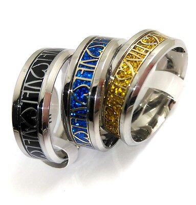 10x Quality Comfort-fit 8mm Band Stainless Steel Wedding Rings Men's LOVE rings