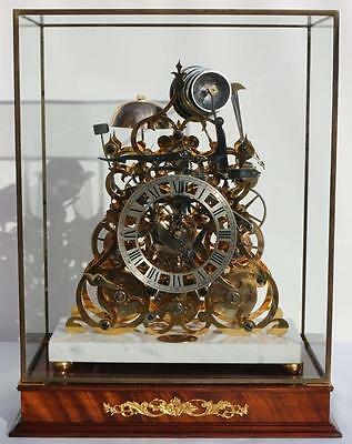 Sinclair Harding Triple Fusee Skeleton  Clock WATCH VIDEO