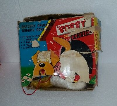 Bobby the Terrier 'Remote Controlled' battery operated toy Made in Japan c1960's
