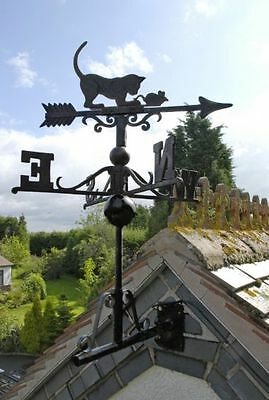 Cast Iron Cat/Mouse Weather Vane