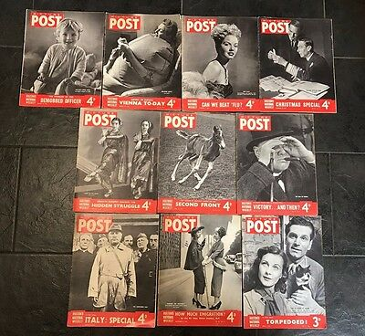 10 off Vintage Picture Post Magazines 1940s, Arts Craft Decoupage Adverts