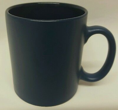 Matt outer, Gloss inner Navy blue coffee mugs (sold in 36's)