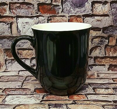 Plain Bell Shaped, Black Gloss Two Tone Mugs