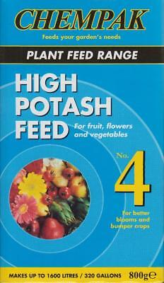 Chempak High Potash No 4 Make Liquid Plant Food Feed Fruit Flower Vegetable 800g