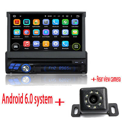 Android 6.0 1 DIN 7'' Car DVD player CD GPS Video autoradio central multimidia
