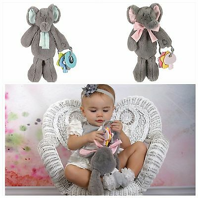 Stephan Baby - Elephant Plush Toy, Pacifier Holder with Key Rattle ** GIFT