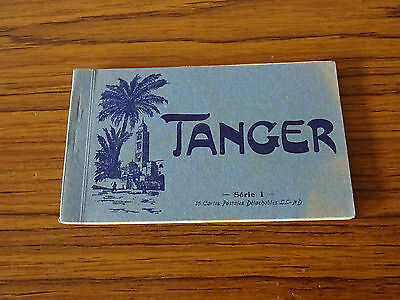 C1930s Postcard Booklet with 15 Cards: Tanger, Morocco. Complete