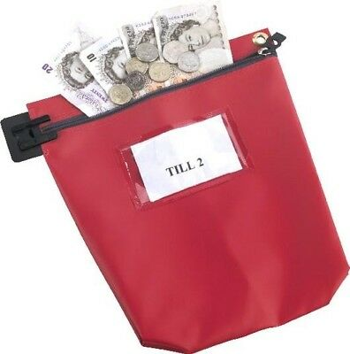 Go Secure Cash Bag with Label Window Heavy Duty | Red