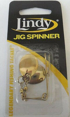 Lindy Jig Spinners - Gold Blade - Size 2, Bass Redfin Yellowbelly Lure