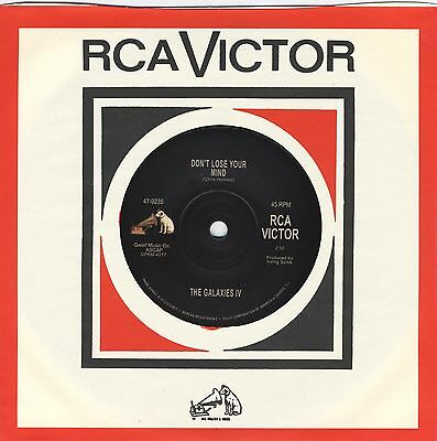 """THE GALAXIES IV Don't Lose Your Mind vinyl repro 7"""" NEW garage punk psych KILLER"""