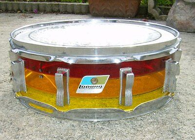 """vintage 1970's Ludwig Tequila 14"""" x 5"""" Snare Drum, project"""
