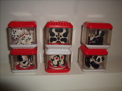 Fisher Price Peek A Blocks Black White and Red Lot of 6 Excellent Shape