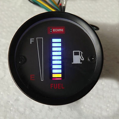 50mm LED Digital DC12V Fuel Gauge Meter LED Digital Car Motorcycle streetfigter