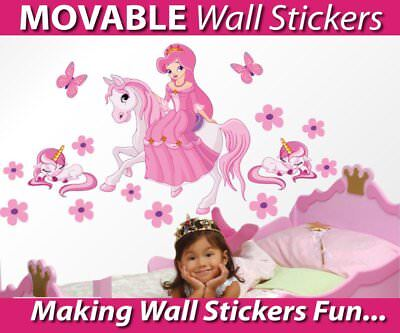 Princess on a Horse Movable Wall Stickers