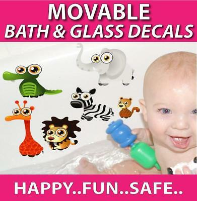 Cute Animals Movable Bath Stickers