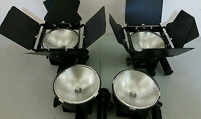Lot of 4 LOWEL DP Professional Studio Focus Flood Lighting Unit 1000W w/bulb