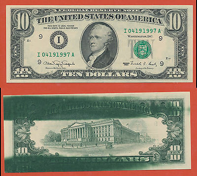USA THE UNITED STATES OF AMERICA 10 Dollar  Fehldruck Misprint  ERROR  RARE ( 21