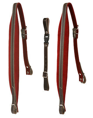Alkpenklang 4-Row Accordion Straps Red Padding Adjustable From 79Cm-96Cm Length