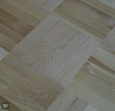 "Prime Grade 14"" Ash Parquet Flooring - Solid Wood - 22mm Massive Profile - HS40"