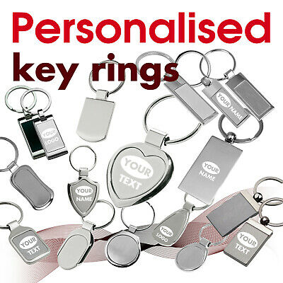 Personalised Keyring engraved with text, name, logo * 07 * GIFT * brithday heart