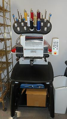 Melco Amaya Professional Embroidery Machine 16 color /hat attachment