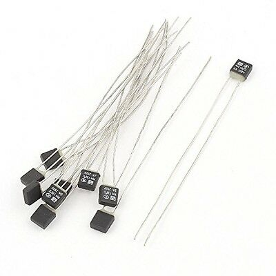 Sourcingmap 10Pcs New RH 130C Double Lead Temperature Control Thermal Fuse 250V