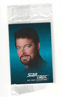 1993 SkyBox  Star Trek Mini Card #2 Commander William T Riker Sealed