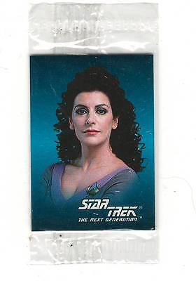 1993 SkyBox  Star Trek Mini Card #6 Deanna Troi Sealed