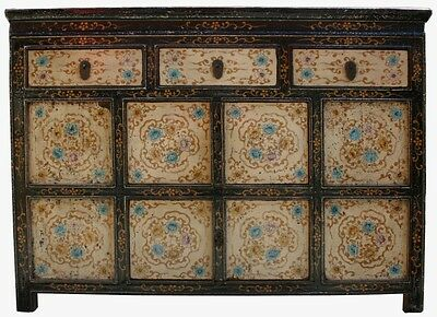 Original Painted Tibetan Sideboard Cabinet (33-020)