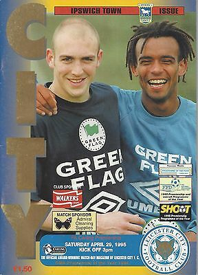 LEICESTER CITY v IPSWICH TOWN 29 APRIL 1995 EXCELLENT CONDITION FREE POSTAGE (1)