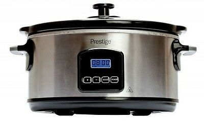 Prestige 46447 Digital 5.5L Slow Cooker Stainless Steel 2 Year Guarantee