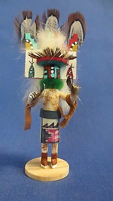 New! Navajo Miniature Detailed Wood Butterfly Kachina Doll by Laura Charley