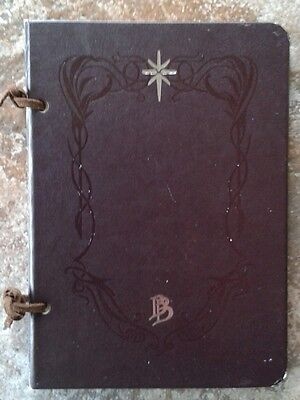 LOTR A Hobbit's Tale Journal & Map of Middle Earth Bilbo Baggins by NLP RARE