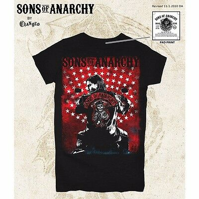 Sons of Anarchy Womens Jax Flag Poster T-Shirt Large