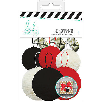 American Crafts Heidi Swapp Embellishment Kit Pom Poms And Bells