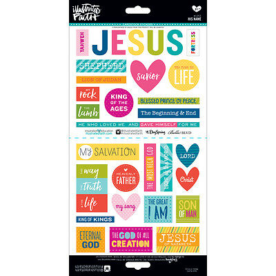 Bella Blvd Illustrated Faith Cardstock Stickers His Name