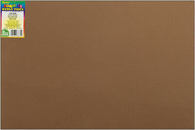 "Darice Foamies Foam Sheet - Brown - 12"" x 18"" - 3 mm Thick - 1 Each"