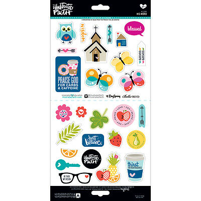Bella Blvd Illustrated Faith Cardstock Stickers His Word