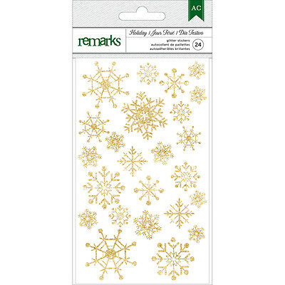 American Crafts Christmas Gold Foil Snowflakes Stickers