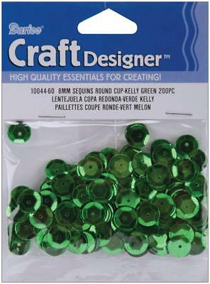 Darice Cupped Sequins Kelly Green 8mm