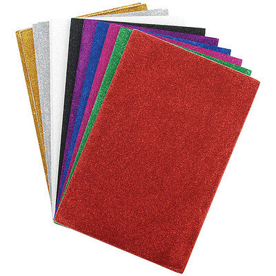 Darice Foamies Sticky Back Glitter Sheet Assorted Colors 6 X 9 Inches