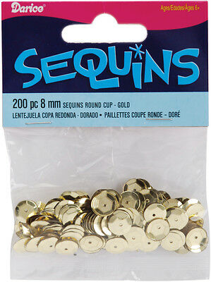 8mm Gold Cup Sequins