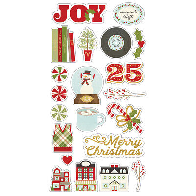 Simple Stories Classic Christmas Chipboard Stickers 439 82